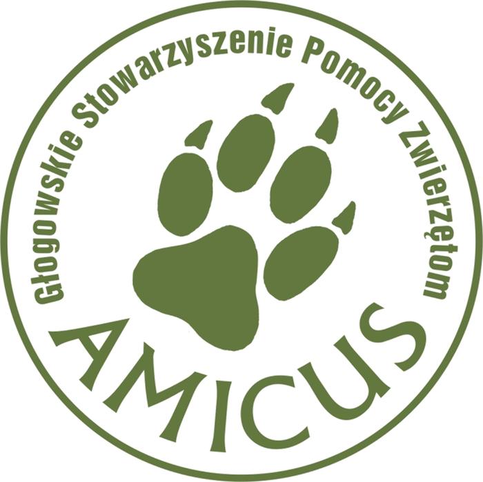 Głogowskie Stowarzyszenie Pomocy Zwierzętom AMICUS - logotyp/zdjęcie