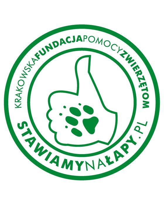 Krakowska Fundacja Pomocy Zwierzętom Stawiamy na Łapy - logotyp/zdjęcie