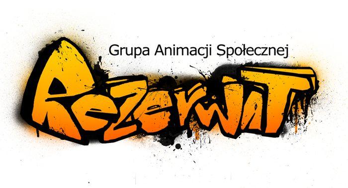 """Grupa Animacji Społecznej """"Rezerwat"""" - logotyp/zdjęcie"""