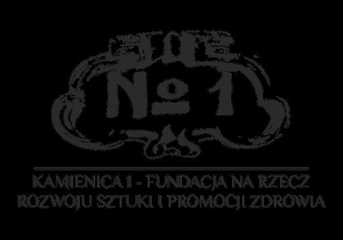 """""""KAMIENICA 1 – FUNDACJA NA RZECZ ROZWOJU SZTUKI I PROMOCJI ZDROWIA"""" - logotyp/zdjęcie"""