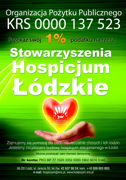 Stowarzyszenie  Hospicjum Łódzkie - logotyp/zdjęcie