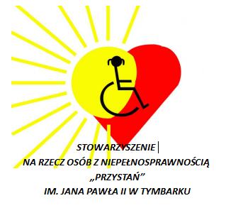 """Stowarzyszenie na Rzecz Osób z Niepełnosprawnością """"PRZYSTAŃ"""" im.Jana Pawła II w Tymbarku - logotyp/zdjęcie"""