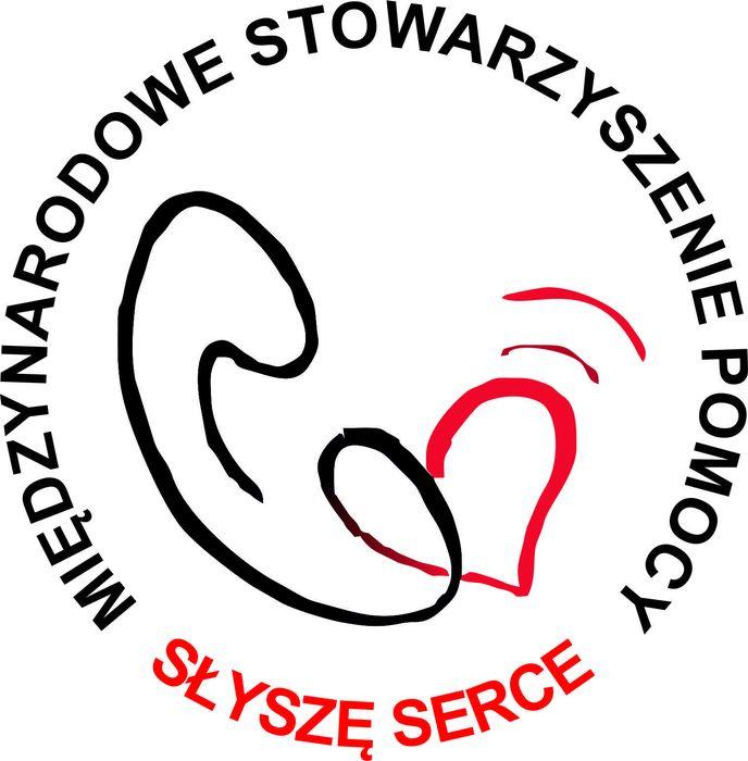 """Międzynarodowe Stowarzyszenie Pomocowe """"Słyszę Serce"""" - logotyp/zdjęcie"""