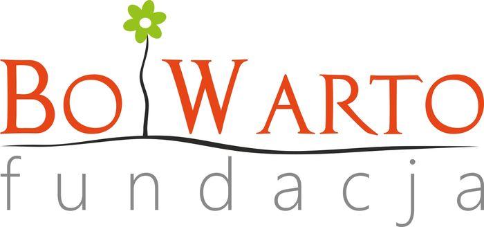 Fundacja BO WARTO - logotyp/zdjęcie