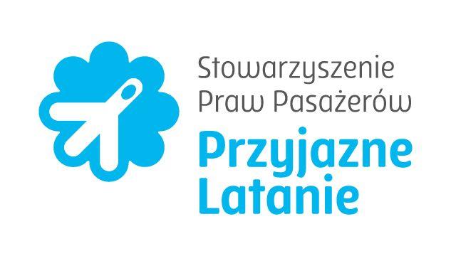 """Stowarzyszenie Praw Pasażerów """"Przyjazne Latanie"""" - logotyp/zdjęcie"""