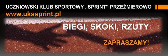 """UCZNIOWSKI KLUB SPORTOWY """"SPRINT"""" PRZEŹMIEROWO - logotyp/zdjęcie"""