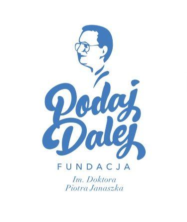 Fundacja im. Doktora Piotra Janaszka PODAJ DALEJ - logotyp/zdjęcie