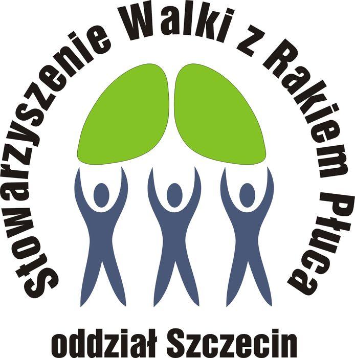 Stowarzyszenie Walki z Rakiem Płuca Oddział Szczecin - logotyp/zdjęcie