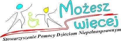 """Stowarzyszenie Pomocy Dzieciom Niepełnosprawnym """"Możesz więcej"""" - logotyp/zdjęcie"""