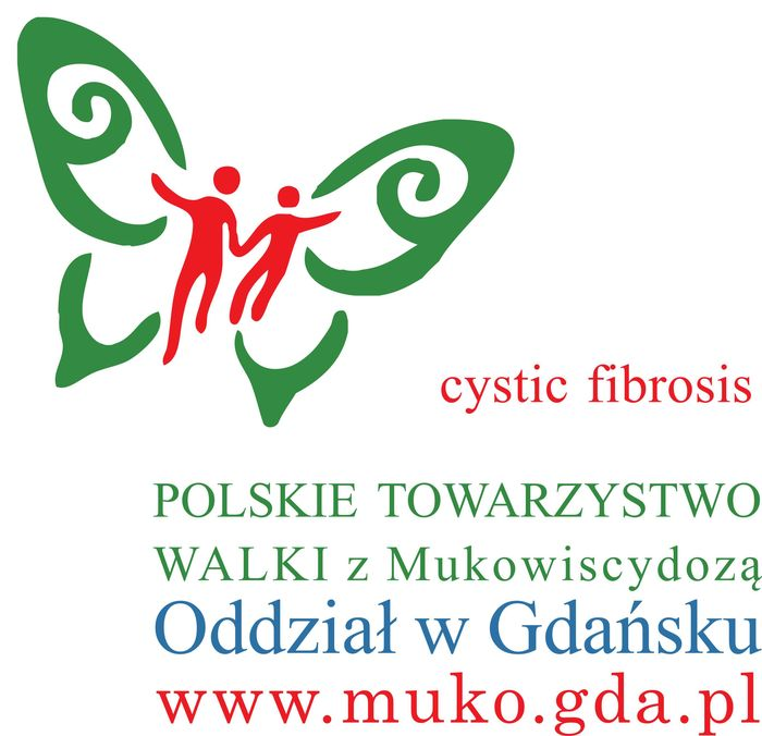Polskie Towarzystwo Walki z Mukowiscydozą Oddział w Gdańsku - logotyp/zdjęcie