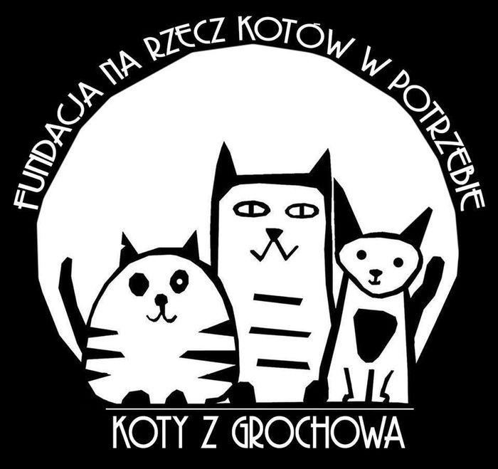 Fundacja Koty z Grochowa - Na Rzecz Kotów w Potrzebie - logotyp/zdjęcie
