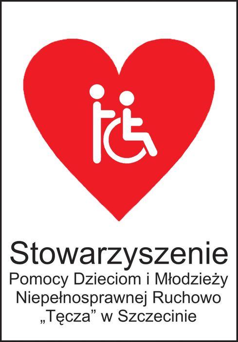 """Stowarzyszenie Pomocy Dzieciom i Młodzieży Niepełnosprawnych Ruchowo """"Tęcza"""" - logotyp/zdjęcie"""