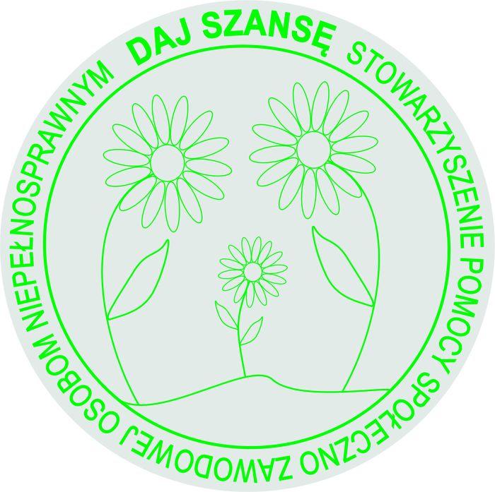 """Stowarzyszenie Pomocy Społeczno - Zawodowej Osobom Niepełnosprawnym  """"Daj szansę"""" - logotyp/zdjęcie"""