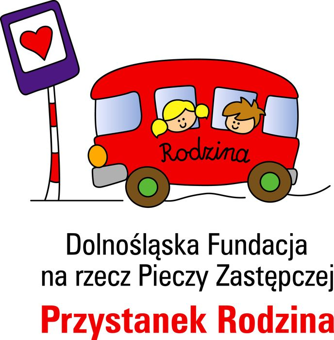 """Dolnośląska Fundacja na rzecz Pieczy Zastępczej """"Przystanek Rodzina"""" - logotyp/zdjęcie"""