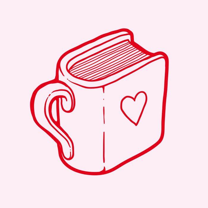 Książka za kawę i ciastko - logotyp/zdjęcie