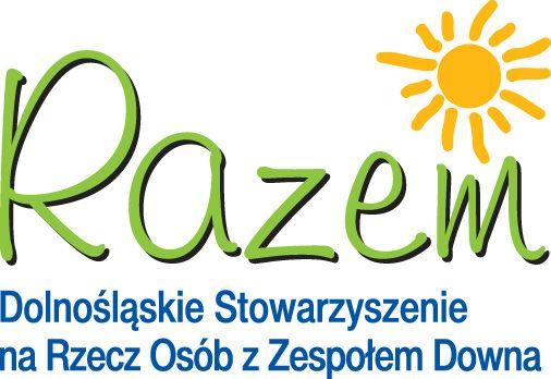 """Dolnośląskie Stowarzyszenie na Rzecz Osób z Zespołem Downa """"Razem"""" - logotyp/zdjęcie"""