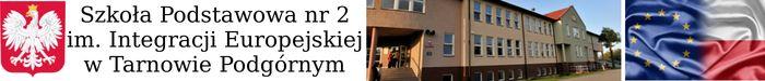 Szkoła Podstawowa nr 2 im. Integracji Europejskiej w Tarnowie Podgórnym - logotyp/zdjęcie