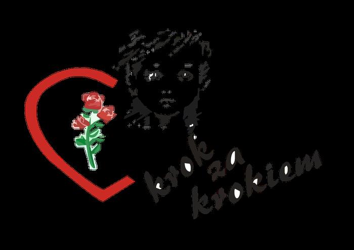 """Stowarzyszenie Pomocy Dzieciom Niepełnosprawnym """"Krok za krokiem"""" w Zamościu - logotyp/zdjęcie"""