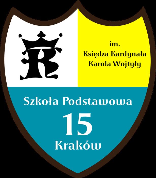 Szkoła Podstawowa z Oddziałami Integracyjnymi nr 15  im. Ks. Kard. Karola Wojtyły w Krakowie - logotyp/zdjęcie