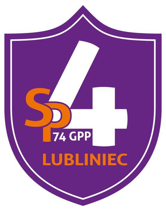 Szkoła Podstawowa nr 4 w Lublińcu - logotyp/zdjęcie