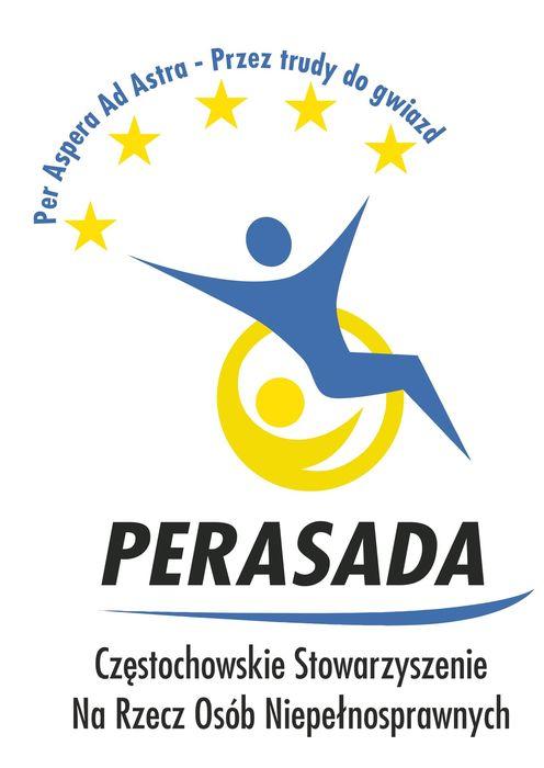 Częstochowskie Stowarzyszenie Na Rzecz Osób Niepełnosprawnych Perasada - logotyp/zdjęcie