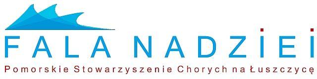 Pomorskie Stowarzyszenie Chorych na Łuszczycę FALA NADZIEI - logotyp/zdjęcie