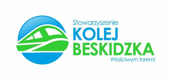 """Stowarzyszenie """"Kolej Beskidzka' - logotyp/zdjęcie"""
