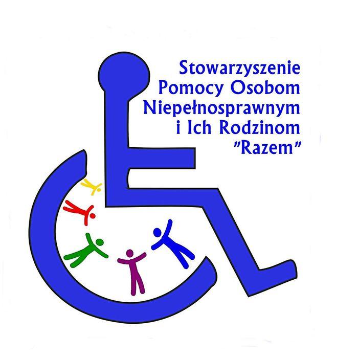 """Stowarzyszenie Pomocy Osobom Niepełnosprawnym i Ich Rodzinom """"Razem"""" - logotyp/zdjęcie"""