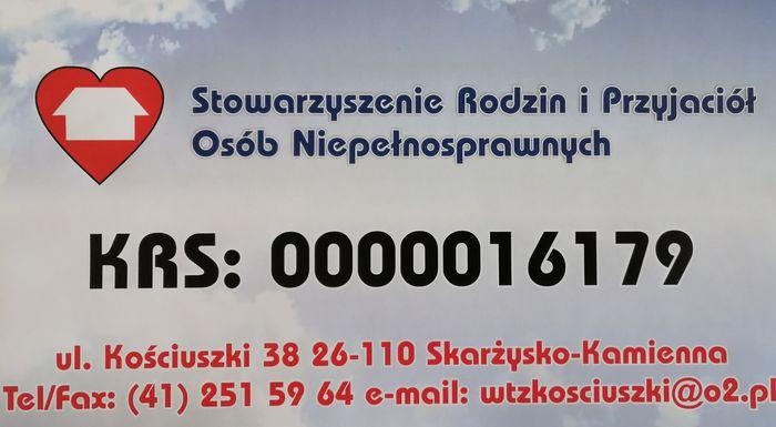 Stowarzyszenie Rodzin i Przyjaciół Osób Niepełnosprawnych w Skarżysku-Kamiennej - logotyp/zdjęcie