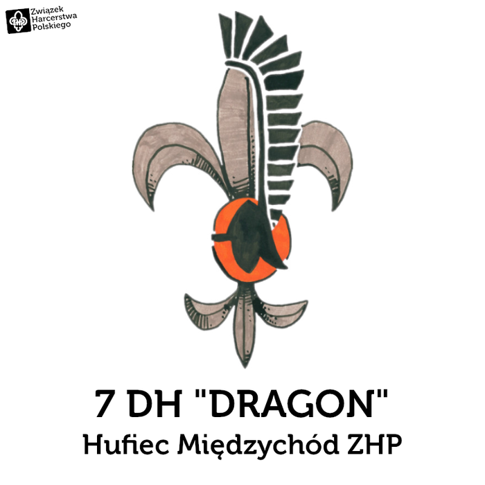 """7 Drużyna Harcerska """"DRAGON"""" im. 1. Dywizji Pancernej - logotyp/zdjęcie"""