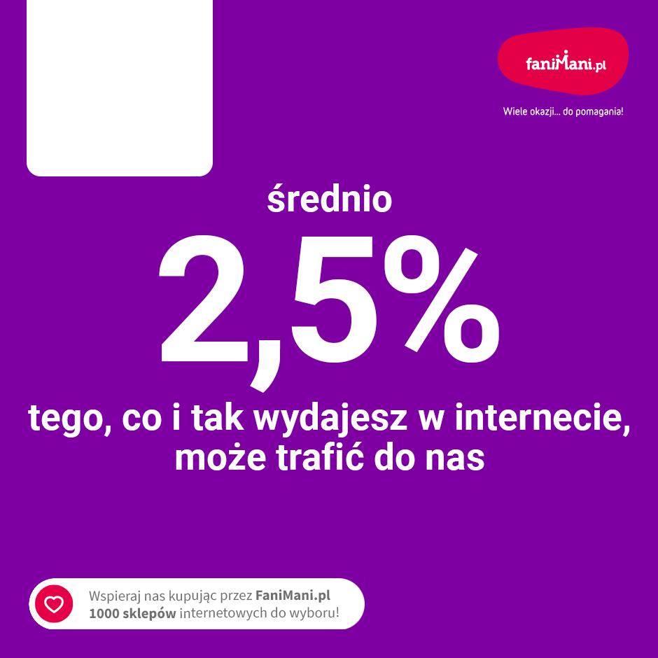 Podgląd dla: Średnio 2,5% tego co wydajesz w internecie może trafić do nas