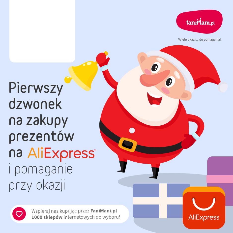 Podgląd dla: Pierwszy dzwonek na zakupy prezentów na Aliexpress i pomaganie przy okazji